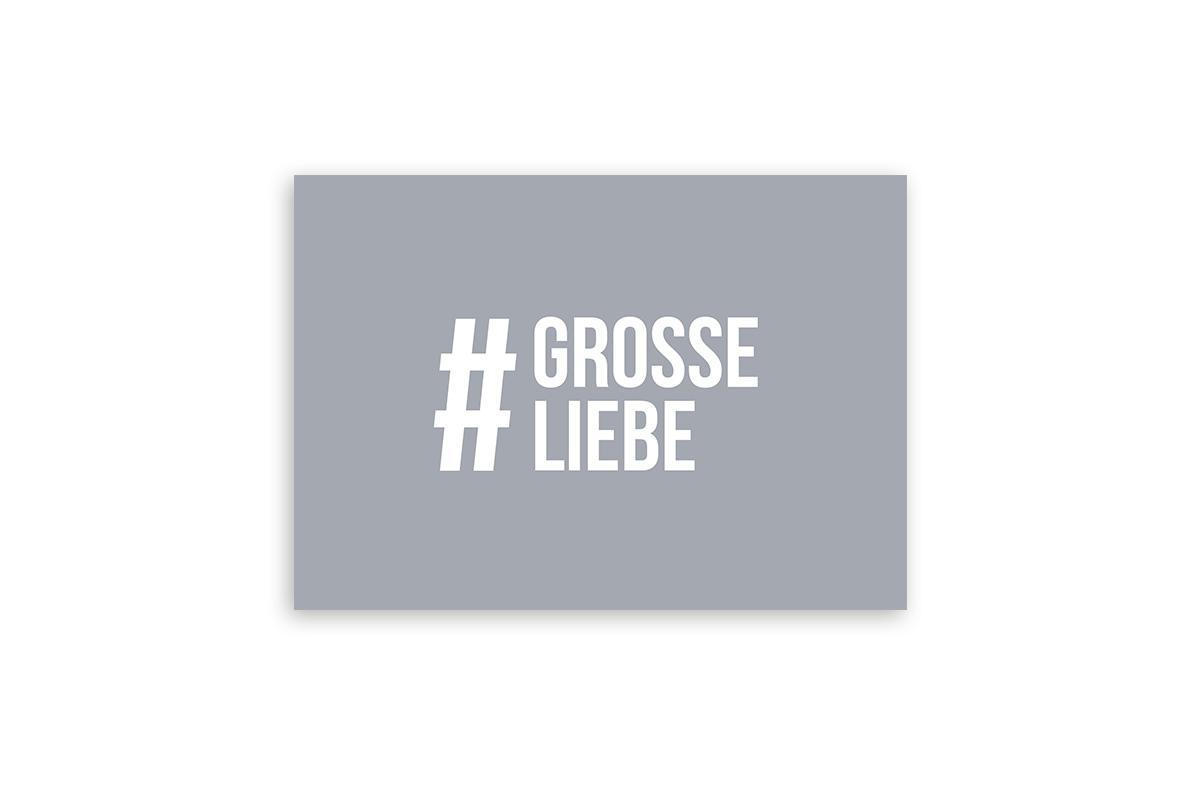 """Postkarte Einfach Liebe """"#grosseliebe"""""""