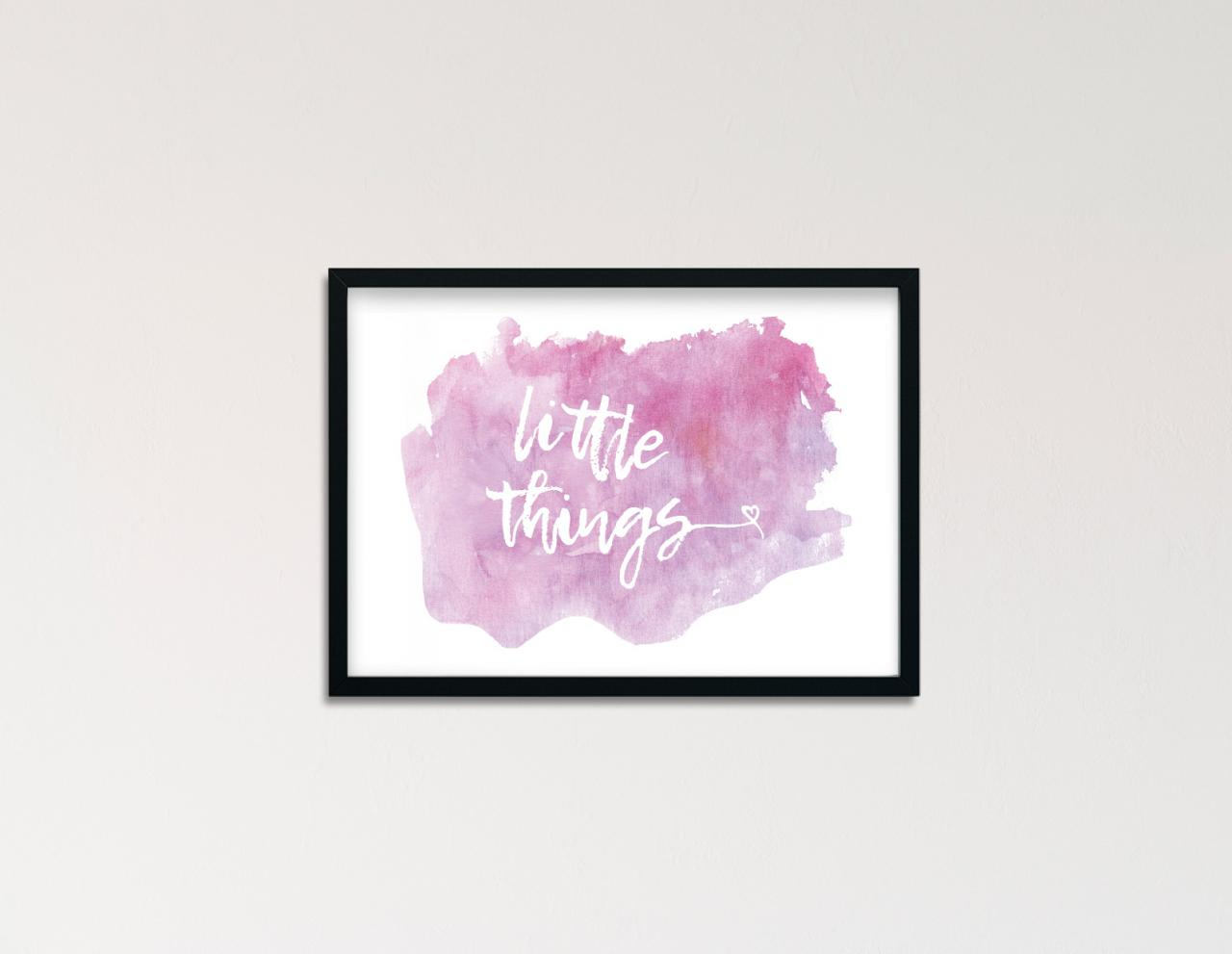 "Poster Handlettering ""little things"""