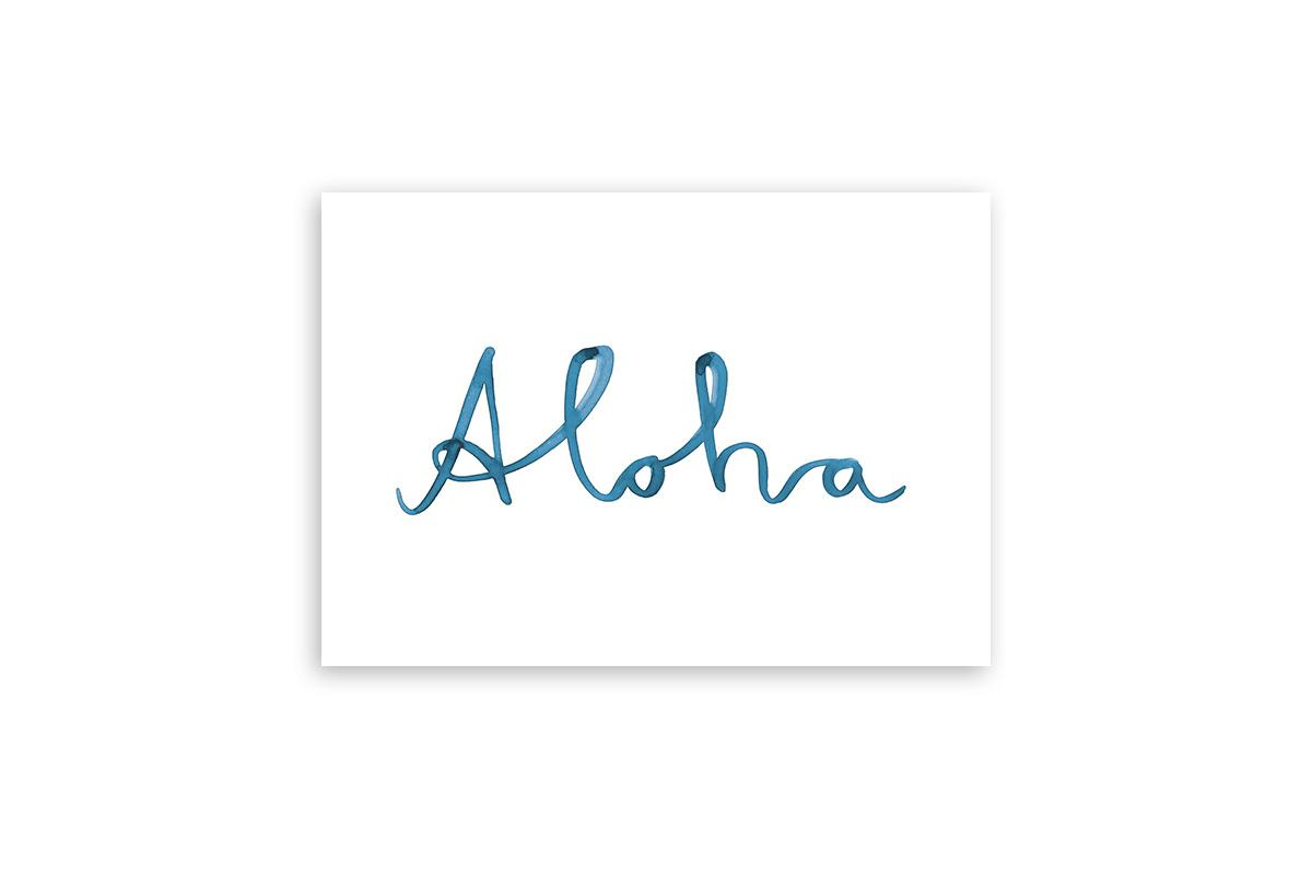 "Postkarte Statement Aquarell ""Aloha"""