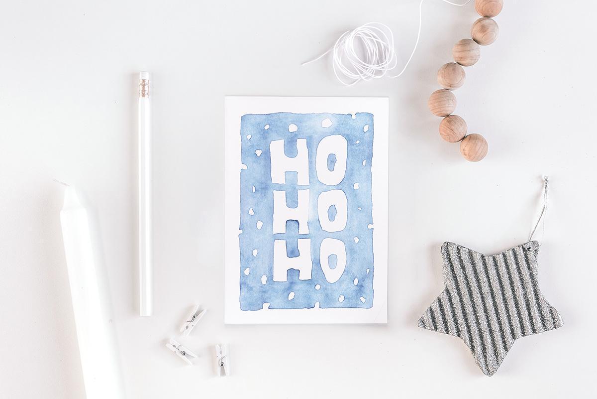 "Postkarte Weihnachten ""Ho Ho Ho"""