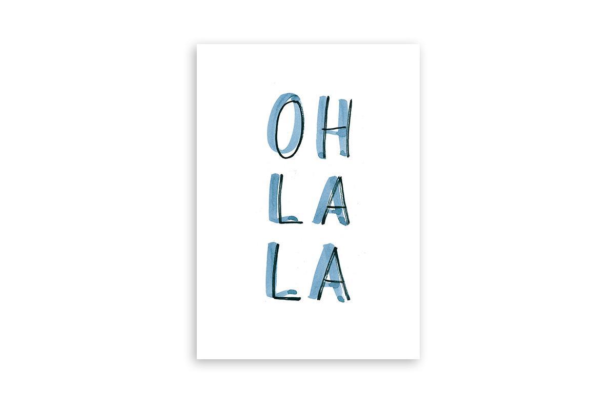 "Postkarte Statement Aquarell ""oh lala"""