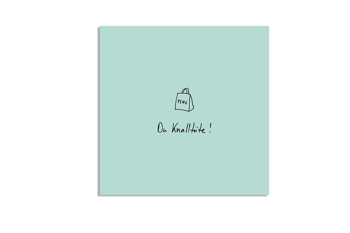 """Postkarte Pastell quadratisch """"Knalltüte"""""""