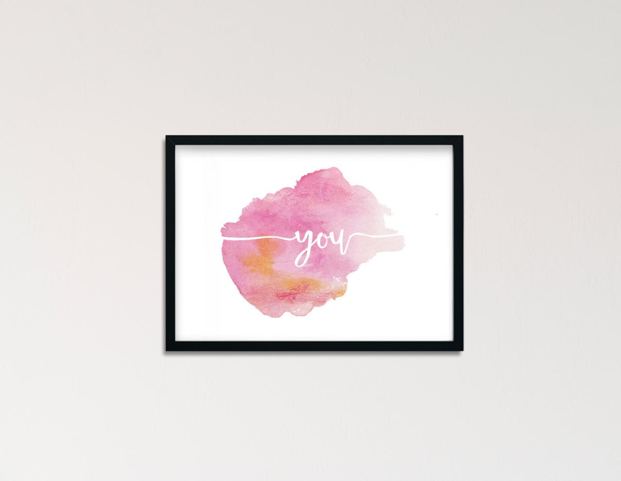 "Poster Handlettering ""you"""