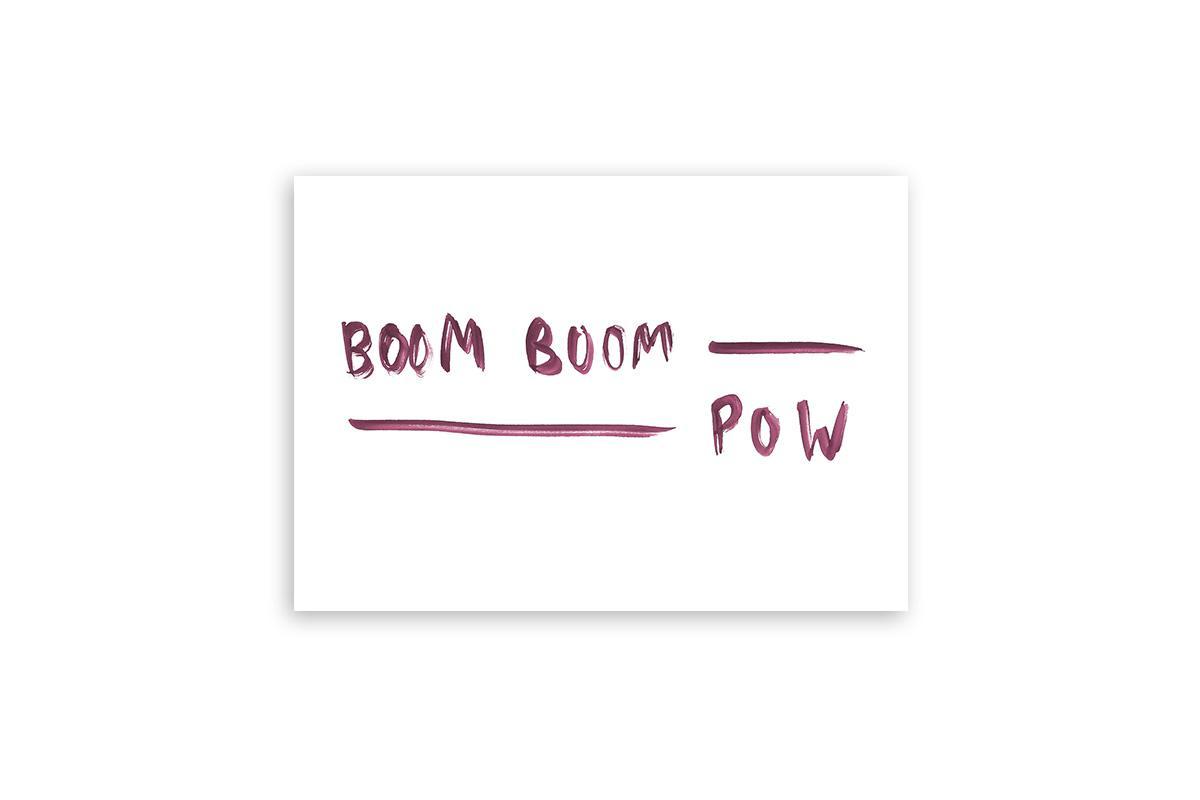 "Postkarte Statement ""Boom Boom Pow"""