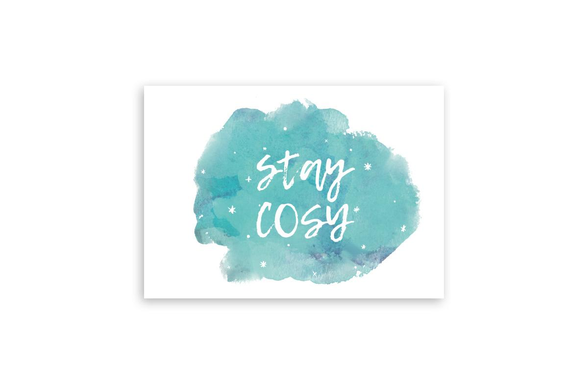 "Postkarte Handlettering ""stay cosy"""