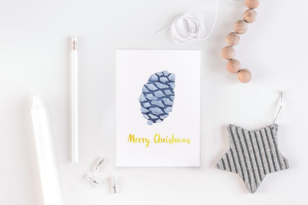 """Postkarte Weihnachten """"Tannenzapfen"""""""