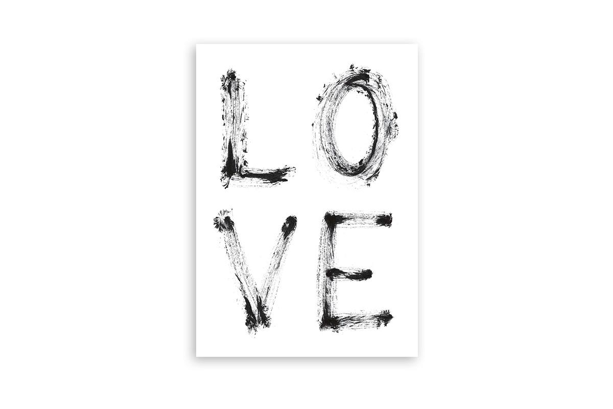 "Postkarte Statement Aquarell ""Love"""