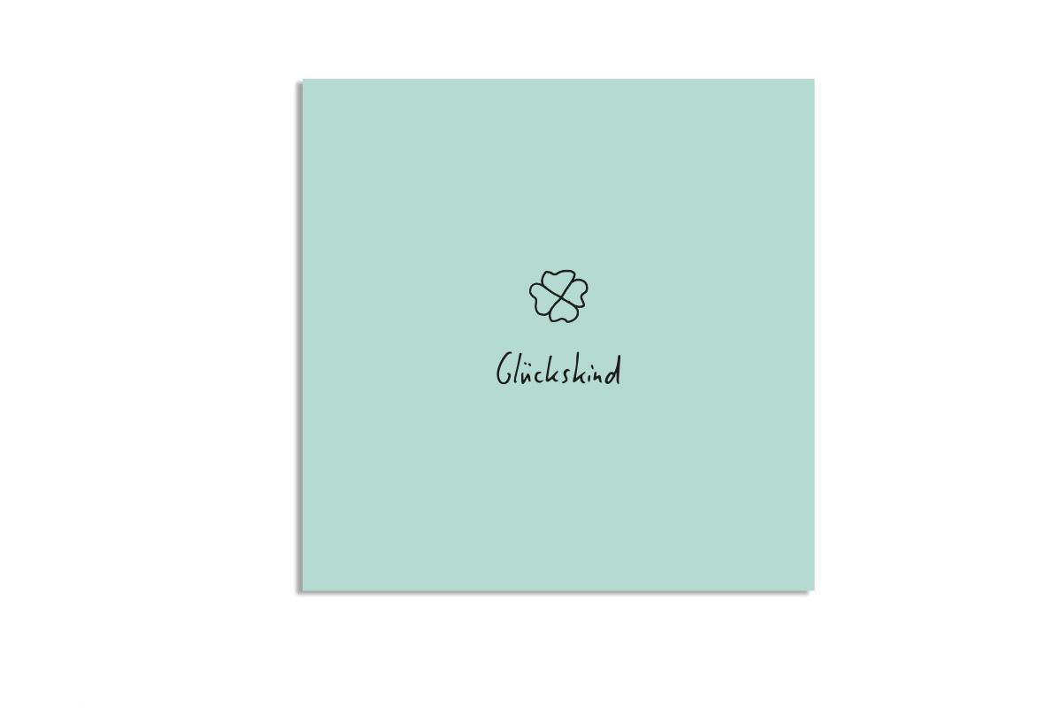 "Postkarte Pastell quadratisch ""Glückskind"""