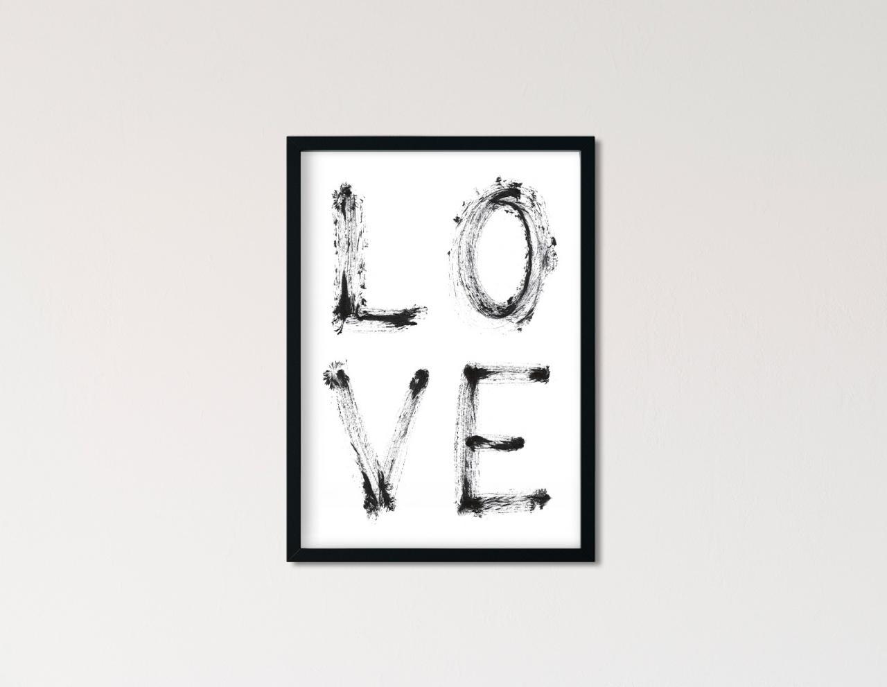 "Poster Statement Aquarell ""Love"""