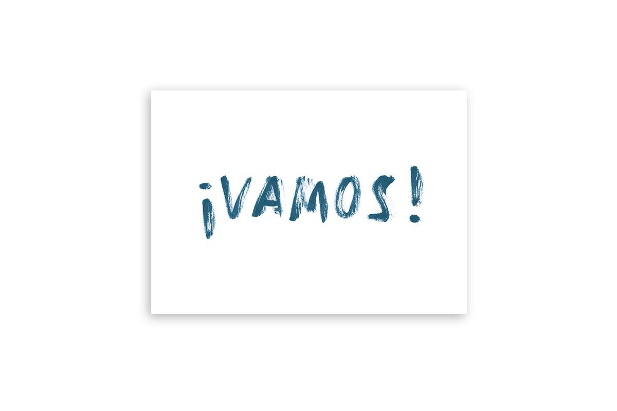 "Postkarte Statement Aquarell ""vamos"""
