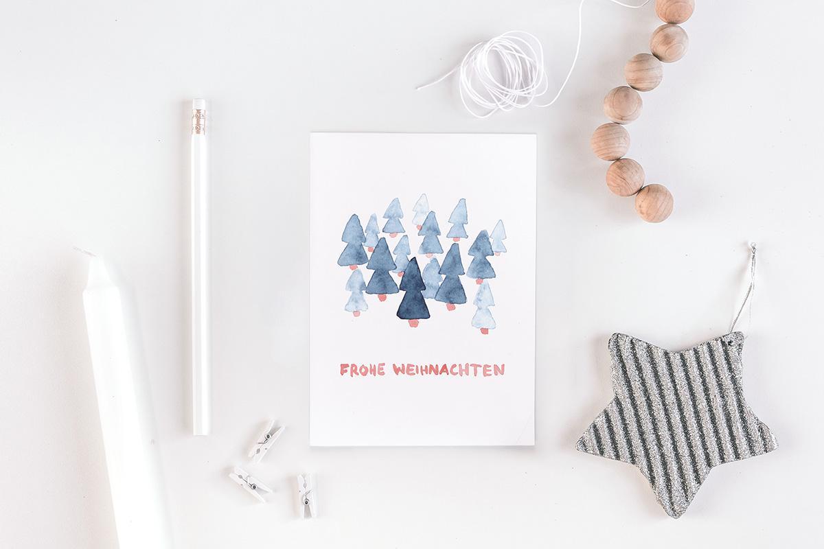 """Postkarte Weihnachten """"Frohe Weihnachten"""""""