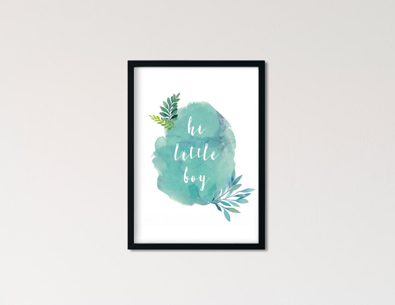 "Poster Handlettering ""hi little boy"""