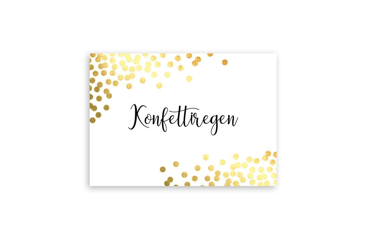 "Postkarte Goldstücke veredelt ""Konfettiregen"""
