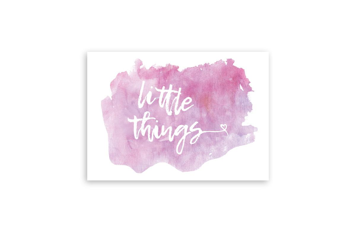 "Postkarte Handlettering ""little things"""