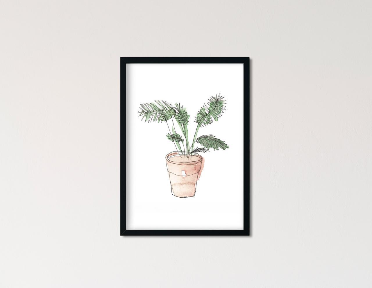"Poster Greenery Aquarell ""Palme"""