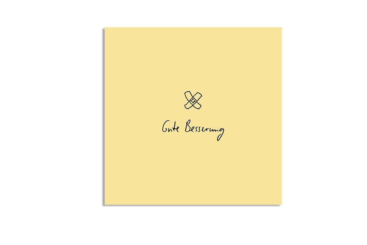 "Postkarte Pastell quadratisch ""Gute Besserung"""