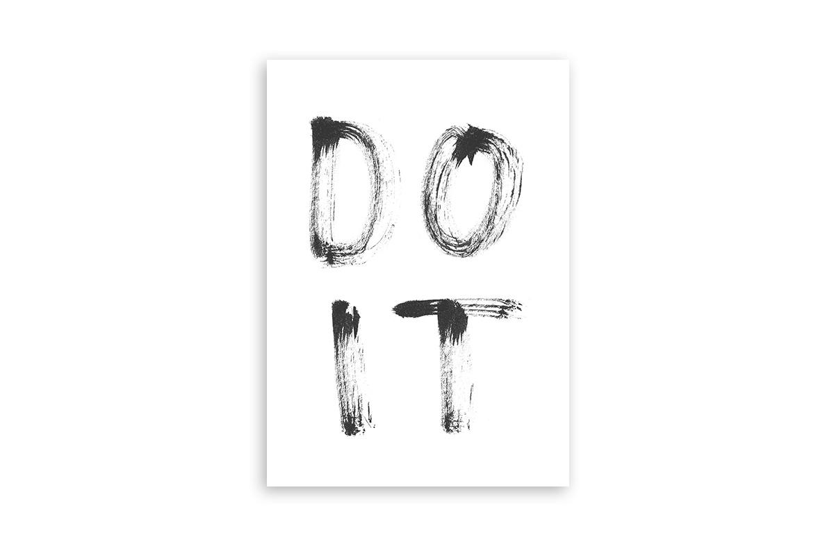 "Postkarte Statement Aquarell ""Do it"""