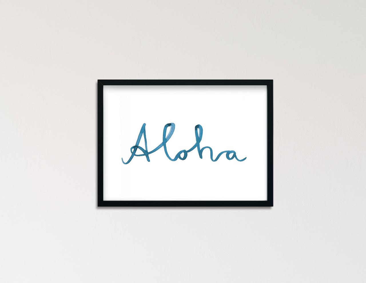 "Poster Statement Aquarell ""Aloha"""