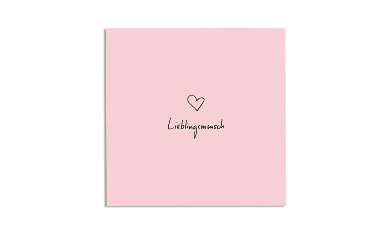 """Postkarte Pastell quadratisch """"Lieblingsmensch"""""""