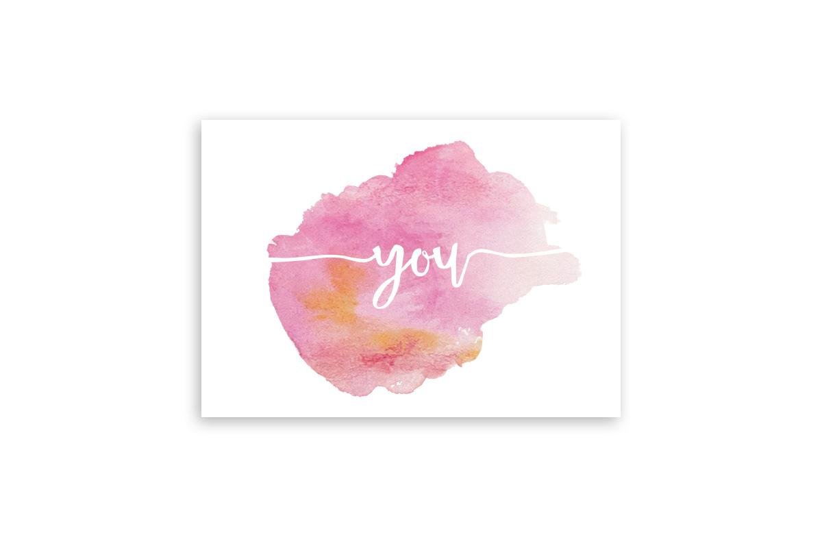 "Postkarte Handlettering ""you"""
