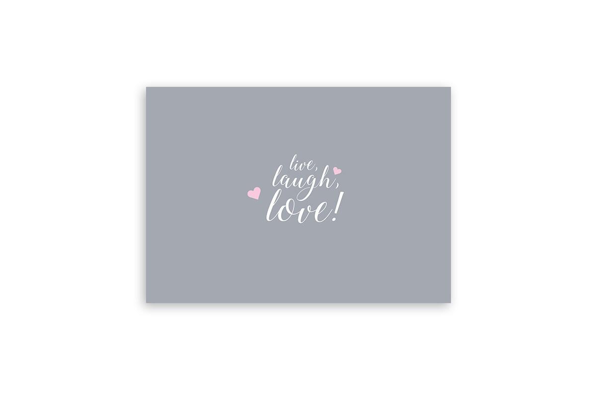 "Postkarte Einfach Liebe ""live laugh love"""